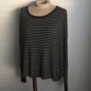 Eileen Fisher Italian striped crewneck dolman  M